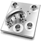 flow plate with clamp