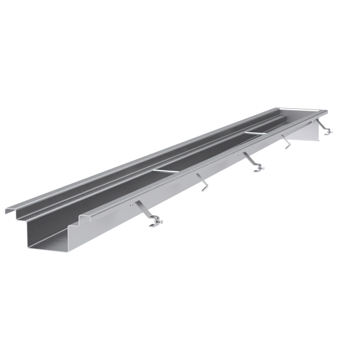 flat bottom stainless steel trench drains